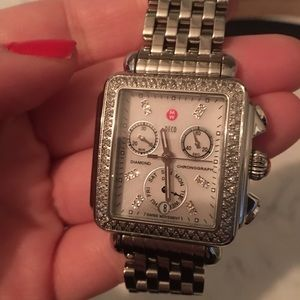 Michele Watch with Diamond and Pearl Face